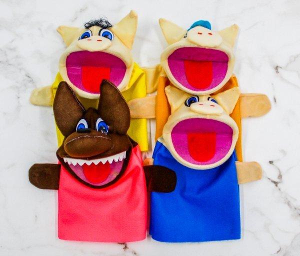 Kit C/4 Fantoches Os Três Porquinhos - Help Toys Htfp4