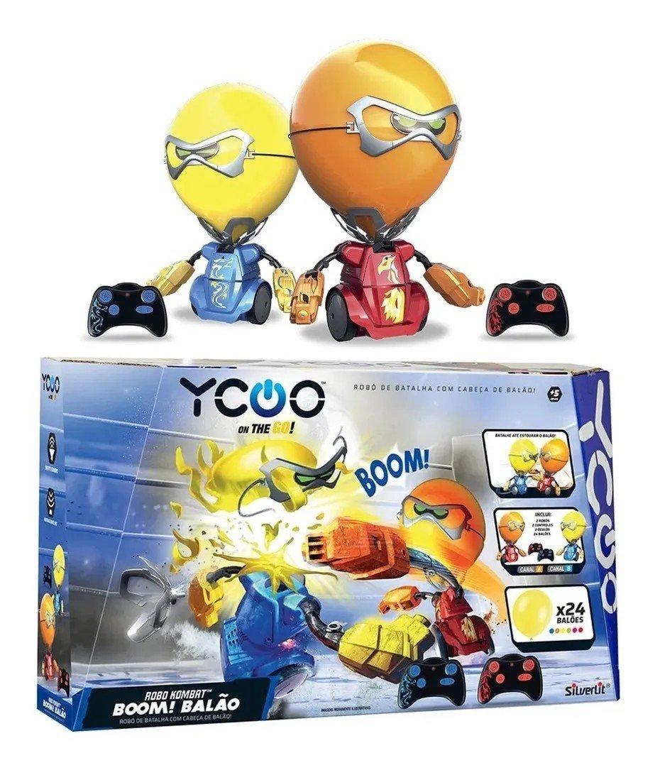 Robô Kombat Batalha De Boxeadores Boom Cabeça De Balão - Dtc