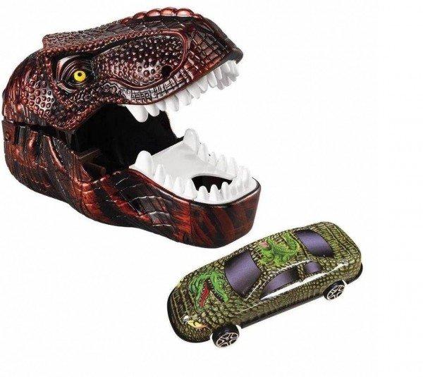 Lançador De Veículo Dinossauro Dino Turbo Vermelho - Dtc 5224