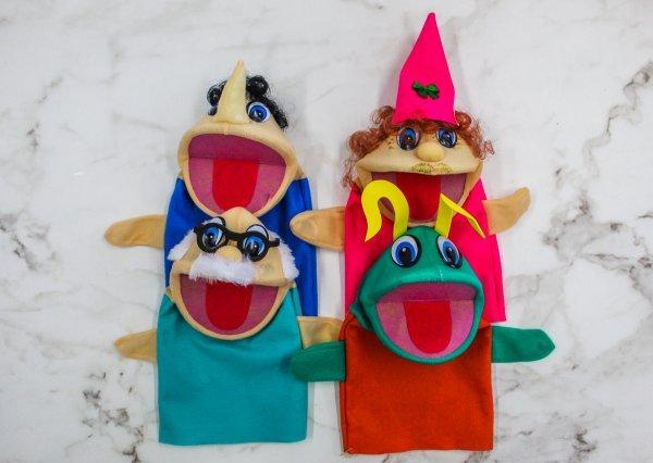 Kit C/4 Fantoches O Pinóquio - Help Toys Htfpq4