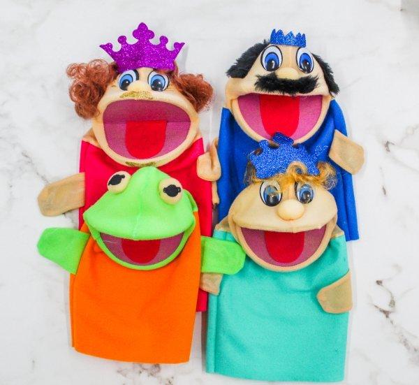 Kit C/4 Fantoches Princesa E O Sapo - Help Toys Htfps4