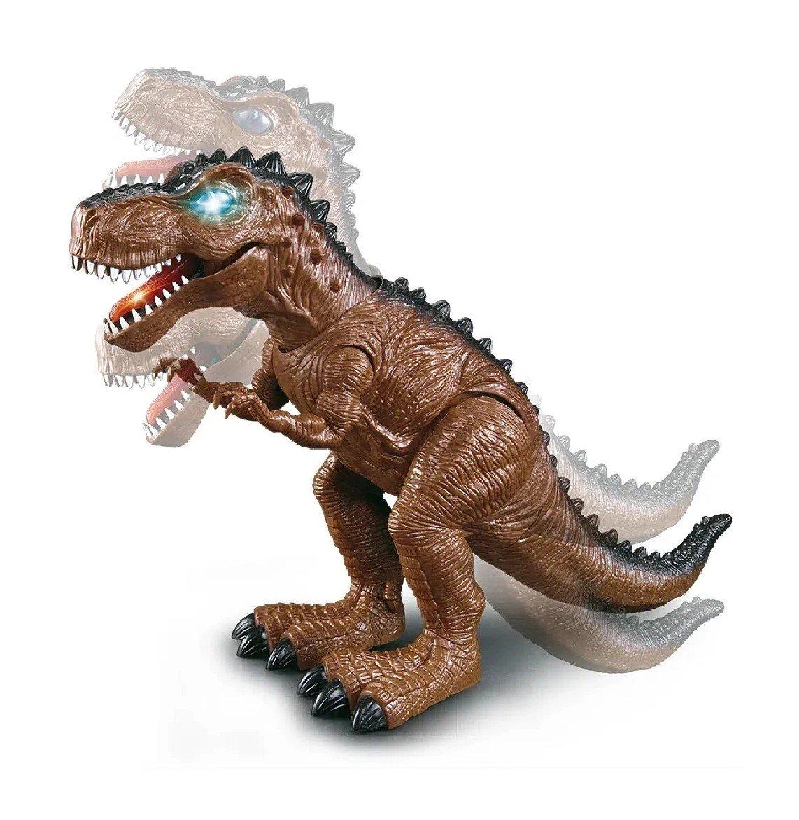 Dinossauro Dino Rex Anda Sozinho Emite Som E Luzes - Dm Toys