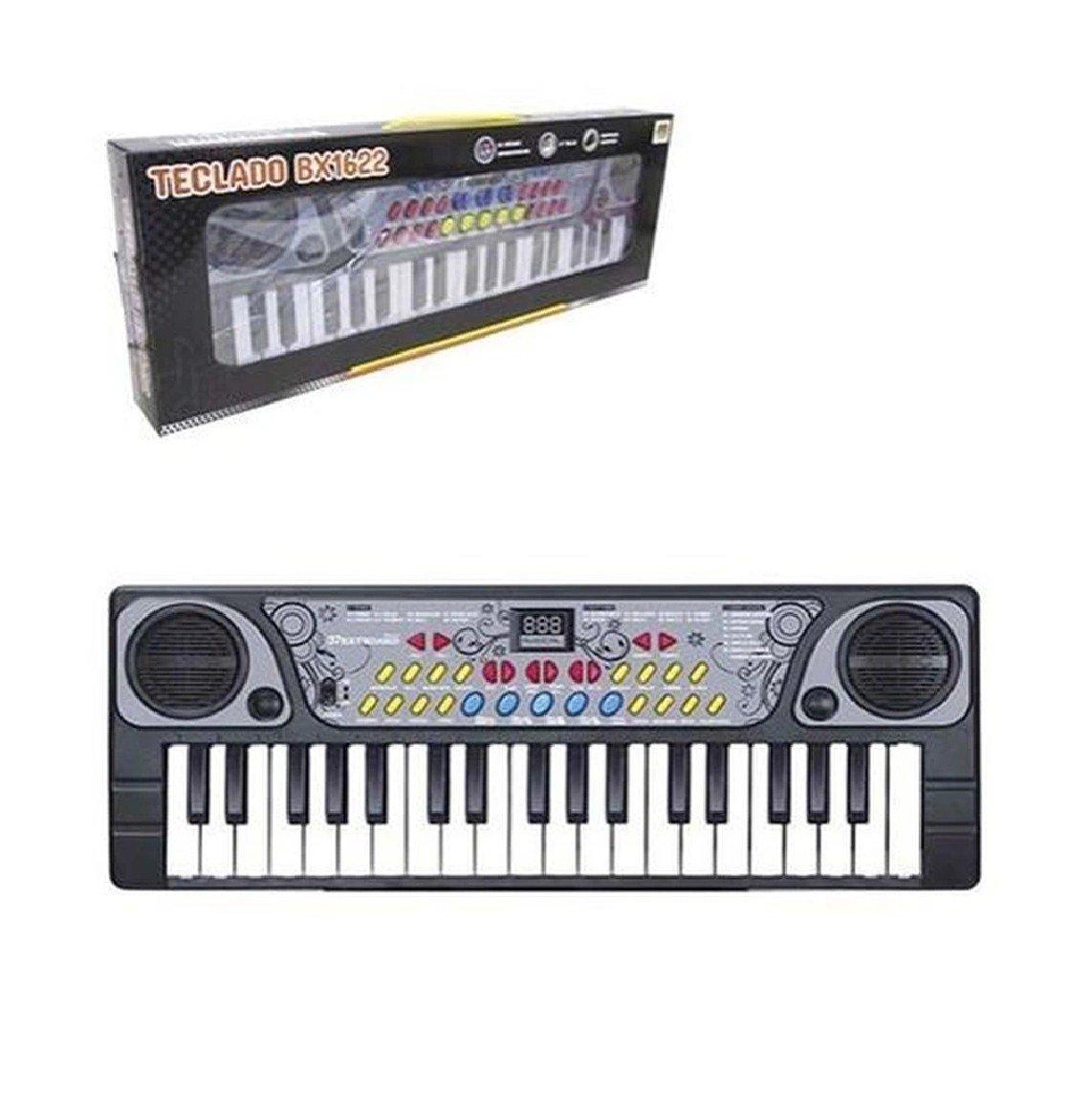 Teclado Piano Musical Criança Infantil Cmicrofone Dm Toys
