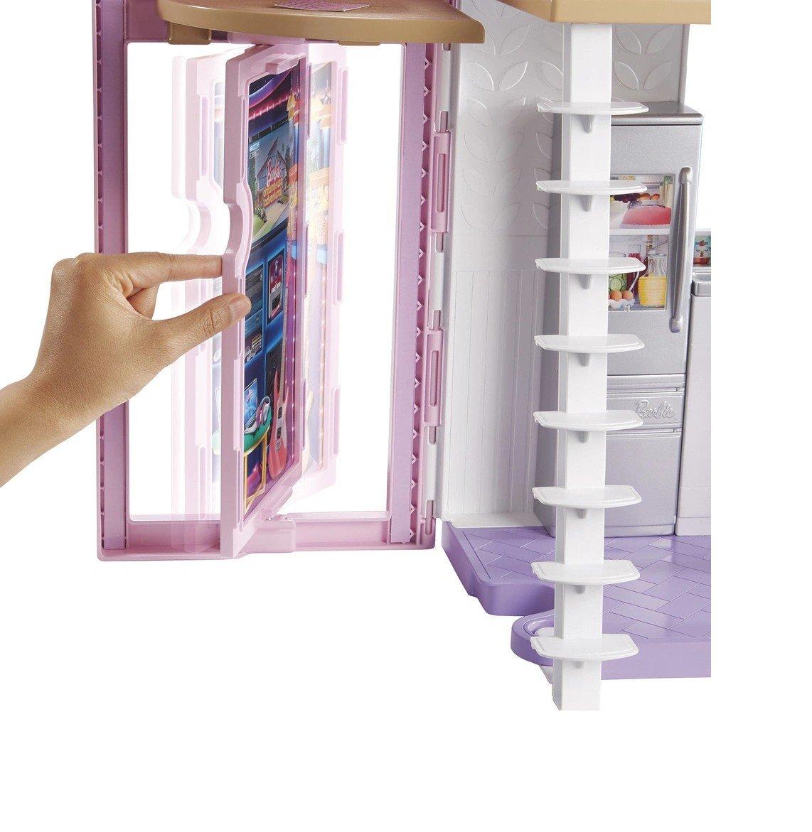 Playset Barbie 90 Cm Casa Da Barbie Casa Malibu - Mattel Fxg57