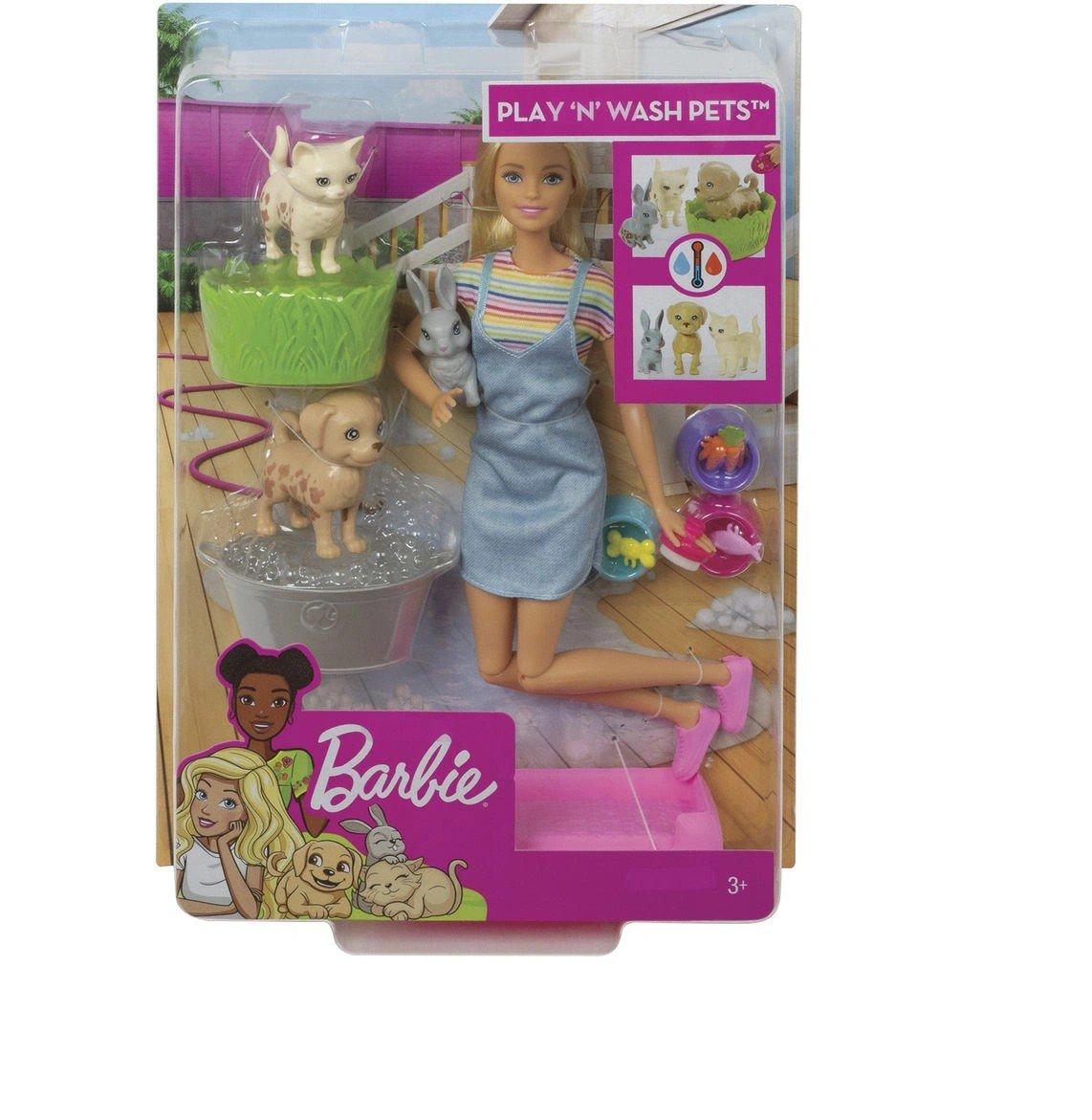 Boneca Barbie Banho Dos Cachorrinhos - Mattel Fxh11