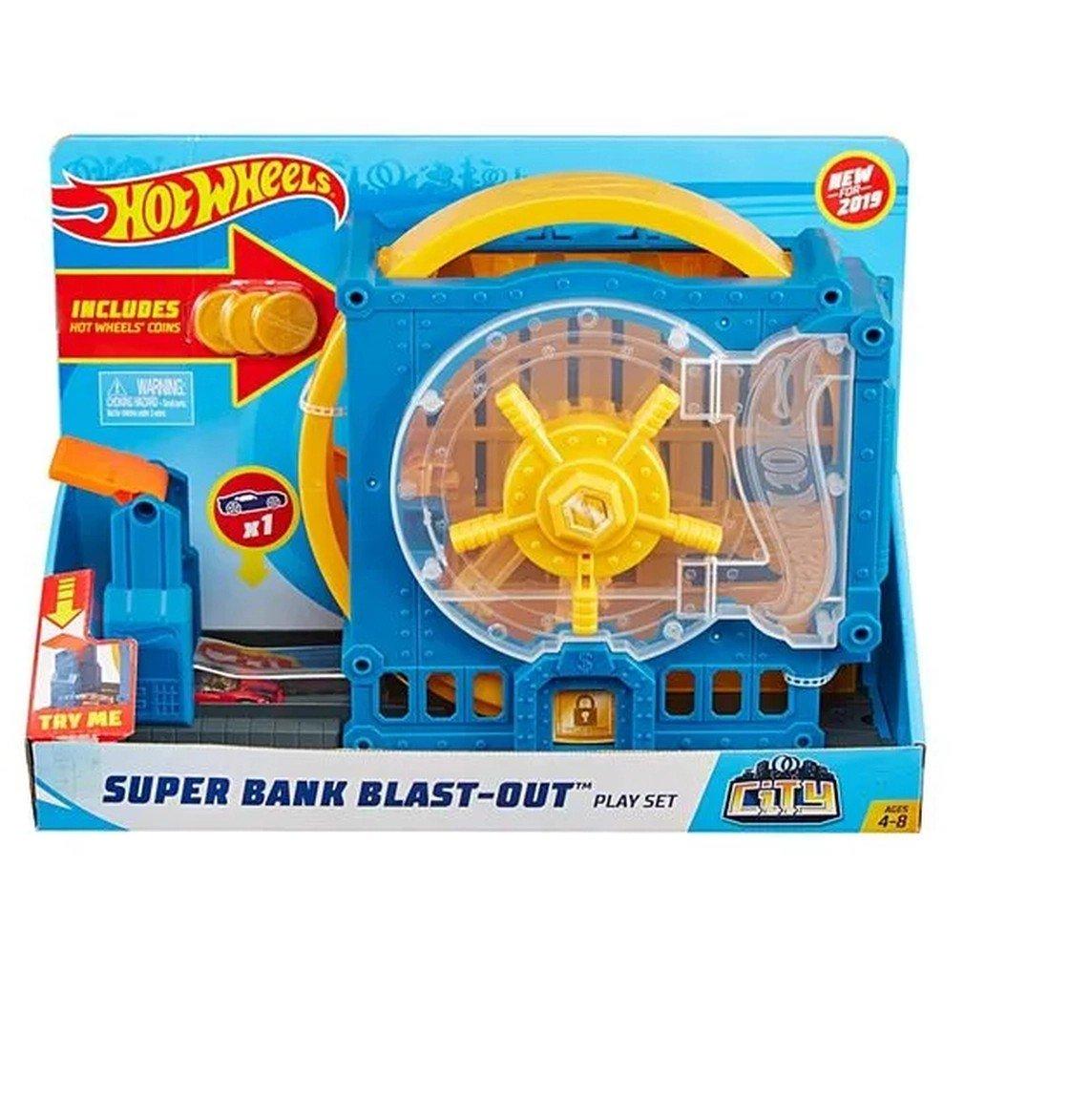 Hot Wheels City Pista Fuja Do Banco - Mattel Gbf96