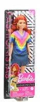 Boneca Barbie Fashionista Ruiva Com Vestido Colorido 141 - Mattel Ghw55