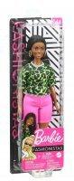 Boneca Barbie Fashionista Negra Com Tranças Blusa Verde 144 - Mattel Ghw58
