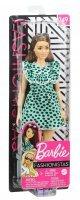 Boneca Barbie Fashionista Morena Vestido Verde Com Bolinhas 149 - Mattel Ghw63