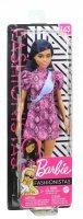 Boneca Barbie Fashionista Cabelo Azul Vestido Rosa E Pochete Azul 143 - Mattel Ghw57