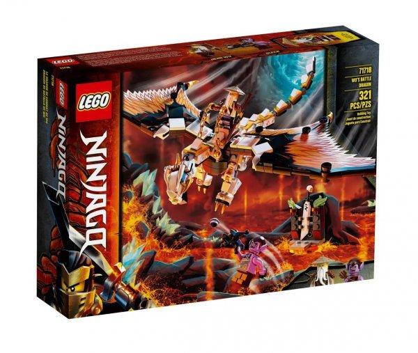 Lego Ninjago - Dragão De Combate De Wu - Lego 71718
