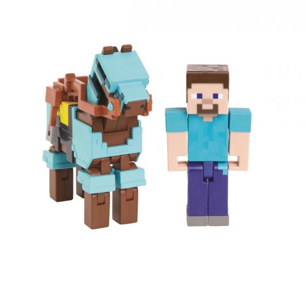 Boneco Steve Com Cavalo Minecraft - Mattel Grd93