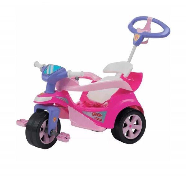 Triciclo Andador Baby Trike Evolution Rosa - Biemme