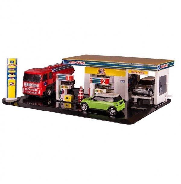 Posto Gasolina Poliposto Com Caminhão E Carro - Poliplac 5504