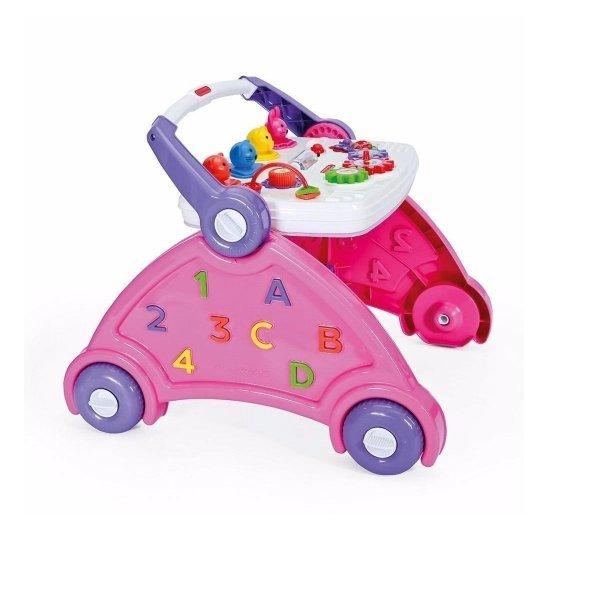 Andador Didático Infantil Rosa Com Som De Animais - Poliplac 6167