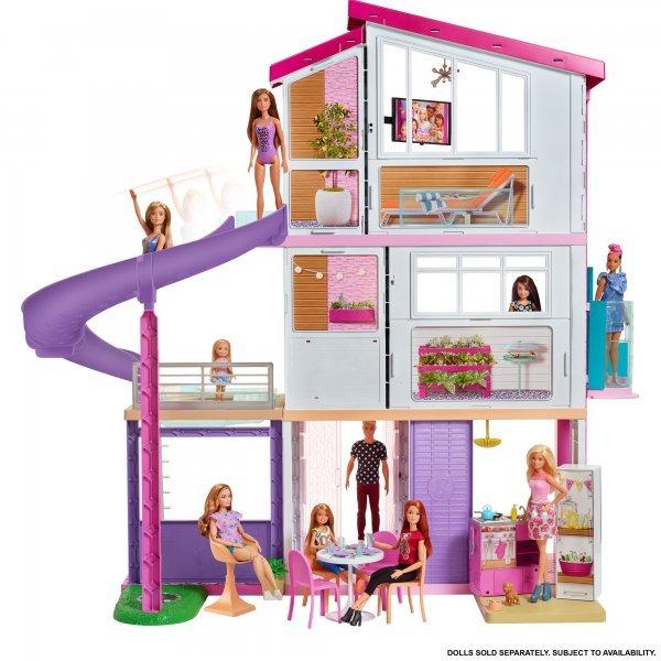 Casa Dos Sonhos Da Barbie Com Acessórios - 120 Cm - Mattel Fhy73