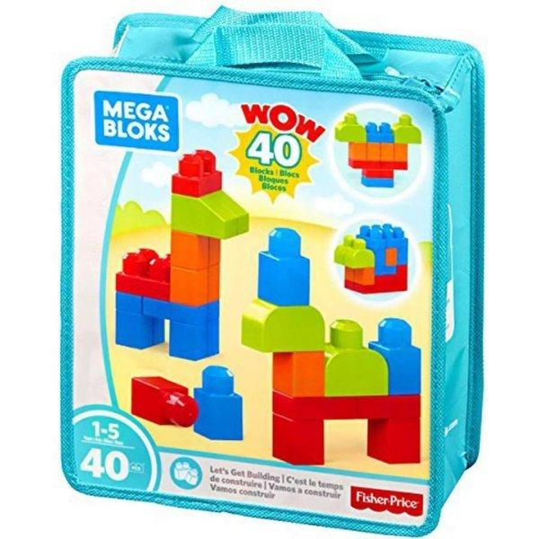Blocos De Montar Mega Bloks Fisher-price Sacola Com 40 Peças - Mattel Fkl01
