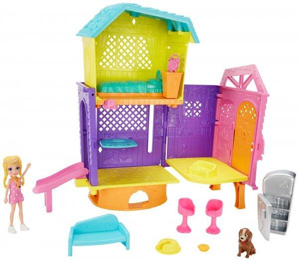 Polly Pocket Playset E Mini Boneca Club House Espaços Secretos - Mattel Gmf81