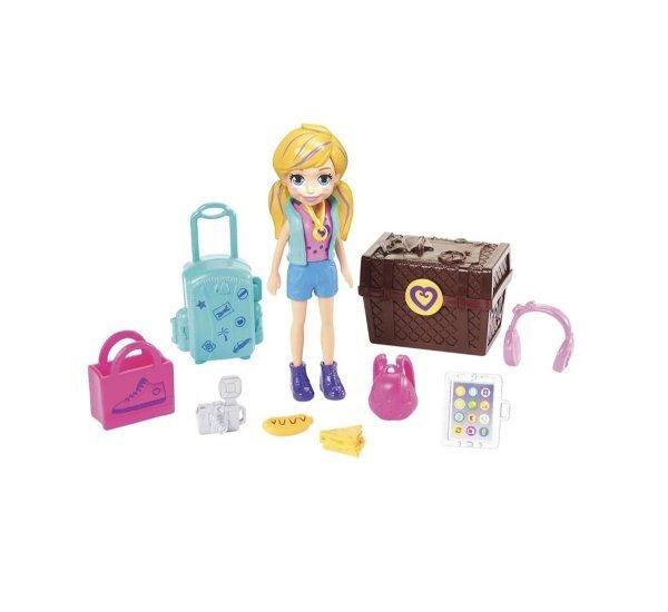 Boneca Polly Pocket Kit Turista Estilosa - Mattel Gdm12