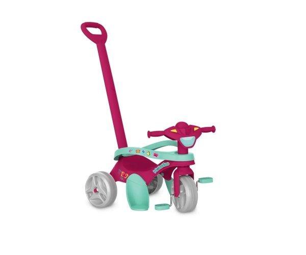 Triciclo Mototico Rosa Passeio E Pedal - Bandeirante 693