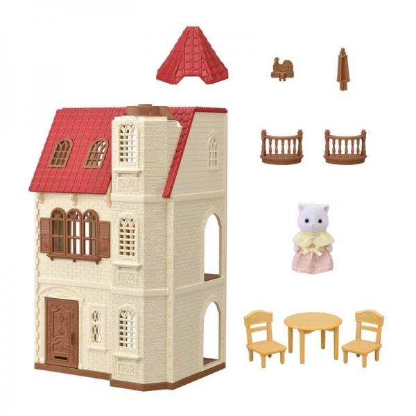Sylvanian Families Casa Com Torre E Telhado Vermelho - Epoch