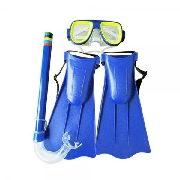 Kit Mergulho 3 Pçs Óculos Máscara, Snorkel E Nadadeiras