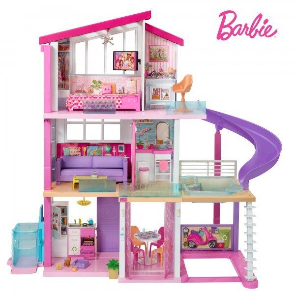 Casa Barbie Mega Mansão Com Elevador Casa Dos Sonhos 360° - Mattel Gnh53