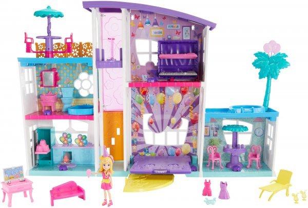 Mega Casa De Supresas Playset 45 Cm E Boneca Polly Pocket - Mattel