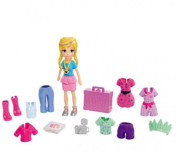 Boneca Polly Pocket Com Pack De Roupa Glam Getaway - Mattel