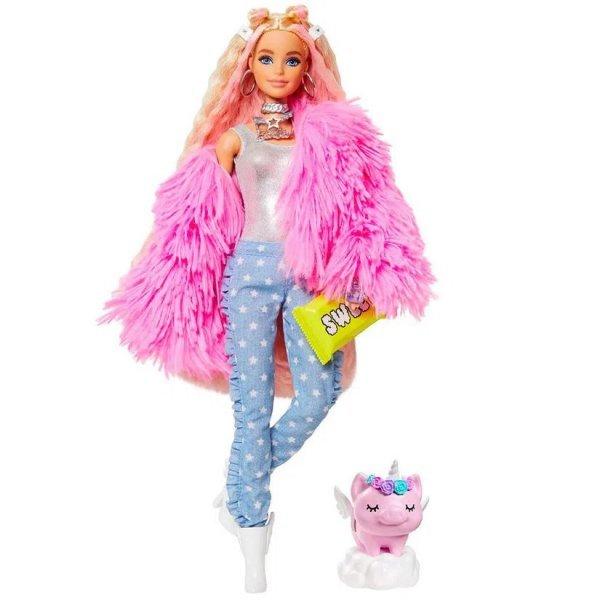 Boneca Barbie Extra Jaqueta Felpuda Rosa Com Animal De Estimação - Mattel Grn28