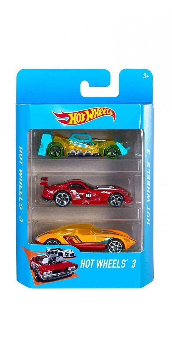 Kit 3 Carrinhos Básicos Sortidos Hot Wheels - Mattel K5904