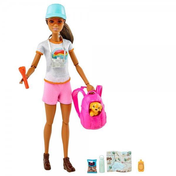 Boneca Barbie Fashionista Dia Da Caminhada Com Filhote - Mattel Grn66