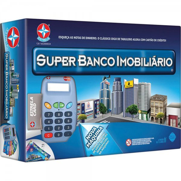 Jogo Super Banco Imobiliário - Estrela Ref: 2800034