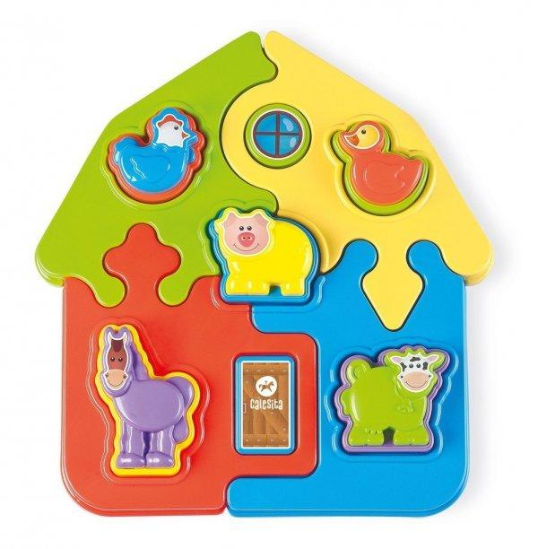 Brinquedo Puzzle Mania Fazenda Didático - Tateti 0814