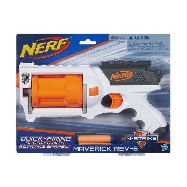 Lança Dardo Nerf Maverick Rev-6 - Hasbro