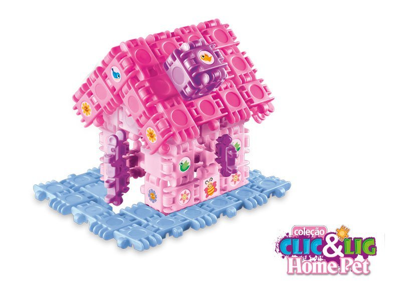 Clic&lig De Montar Homepet - Plasbrink 142pc Ref:0679