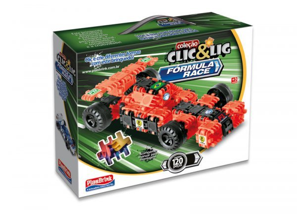 Clic&lig De Montar Fórmula Race - Plasbrink 120pc Ref:0099