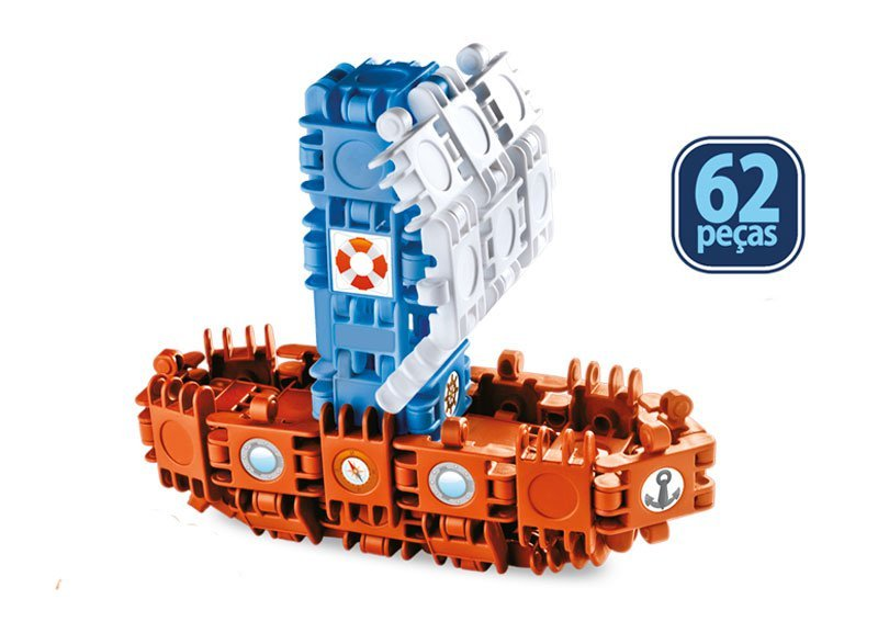 Clic&lig De Montar Boats - Plasbrink 62pc Ref:0709