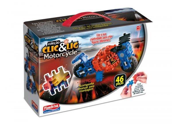 Clic&lig De Montar Motorcycle - Plasbrink 47pc Ref:0686