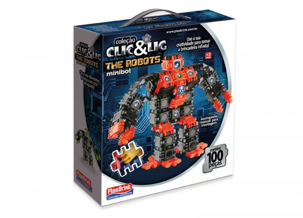 Clic&lig De Montar Robôs Minibot - Plasbrink 90pc Ref:0631