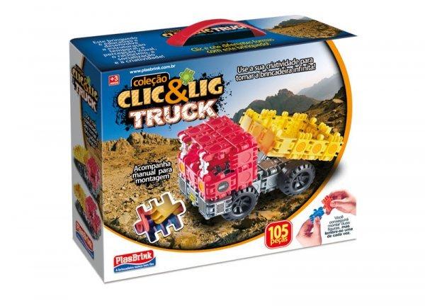 Clic & Lig De Montar Truck 106 Peças - Plasbrink 0716