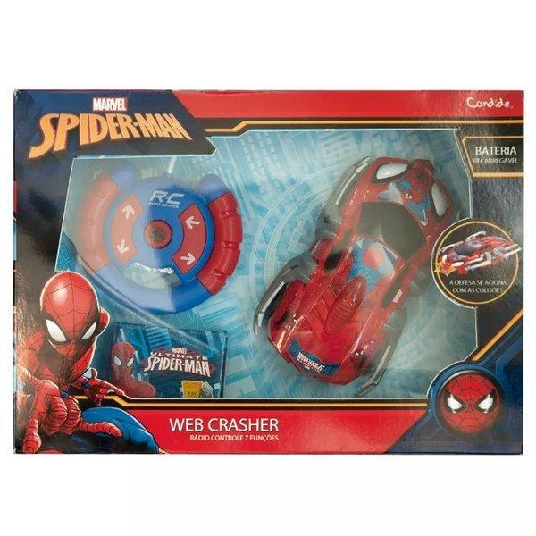 CARRINHO DE CONTROLE REMOTO SPIDER MAN WEB CRASHER - CANDIDE REF:5842