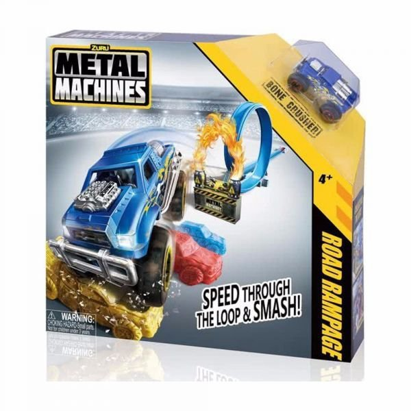 Pista E Carrinho Metal Machines Road Rampage - Candide 8701