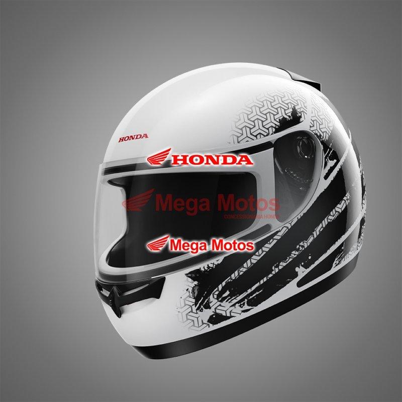 Capacete HFS Honda Branco/Cinza
