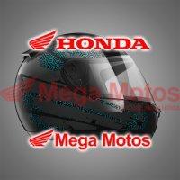 Capacete HFS Honda Preto/Verde