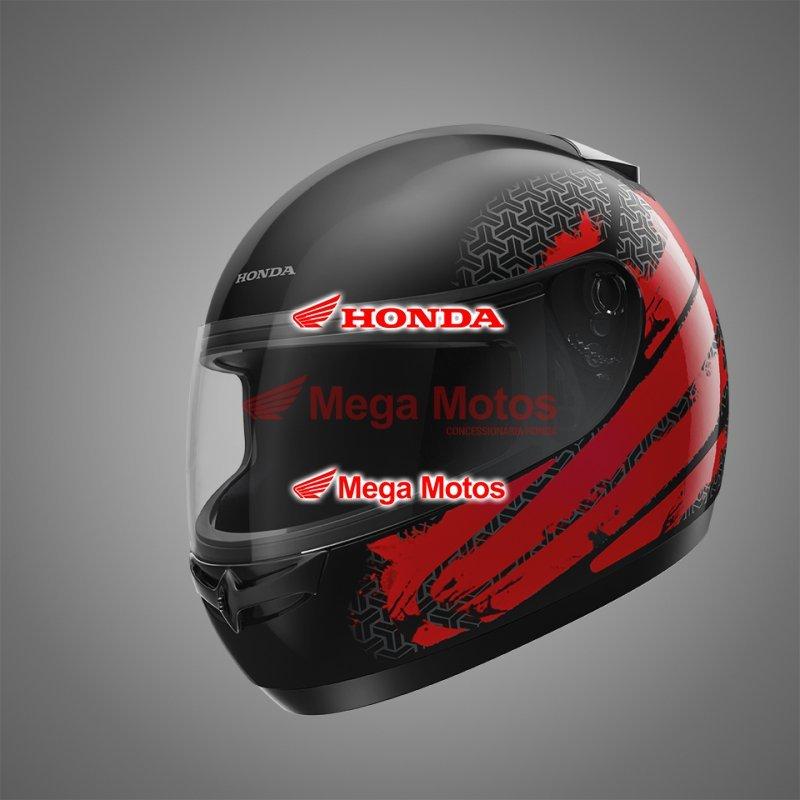 Capacete Hfs Honda Preto/Vermelho