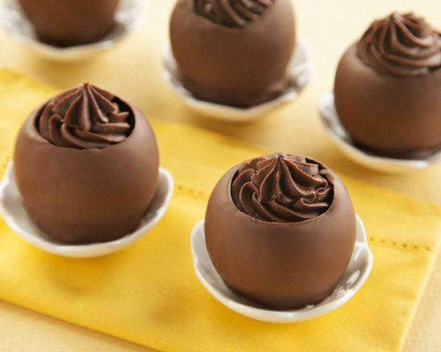 Cestinhas de Chocolate e Trufas de Cappuccino