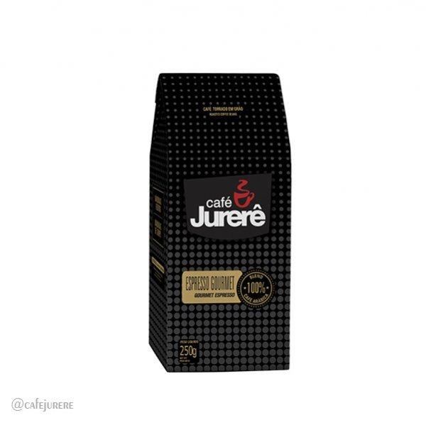 Café Jurerê Expresso Gourmet Grãos Torrados Vácuo 250g / Gourmet Jurerê Roasted Espresso Coffee - 250g Vacuum