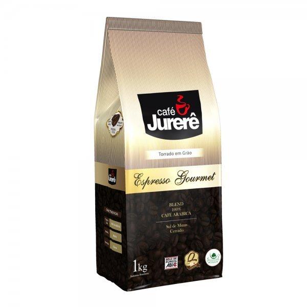 Café Jurerê Expresso Gourmet Grãos Torrados Pouch 1kg / Gourmet Jurerê Roasted Expresso Coffee - 1kg Pouch