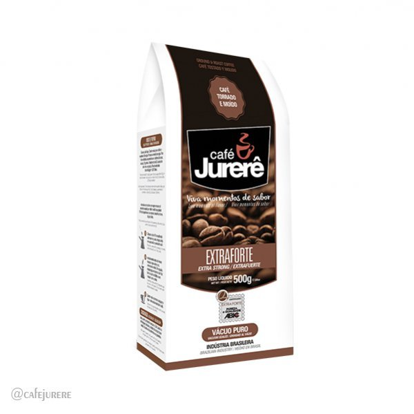 Café Jurerê Extraforte TM Vácuo 500g / Extra Strong Jurerê Roasted and Ground Coffee, 500g Vacuum Packaging